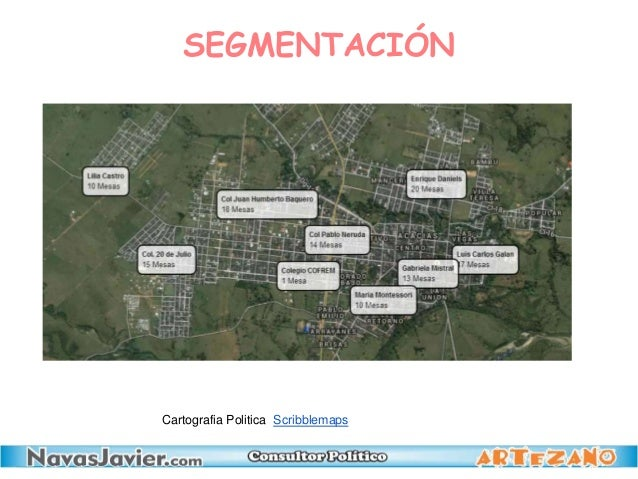 SEGMENTACIÓN Cartografia Politica Scribblemaps