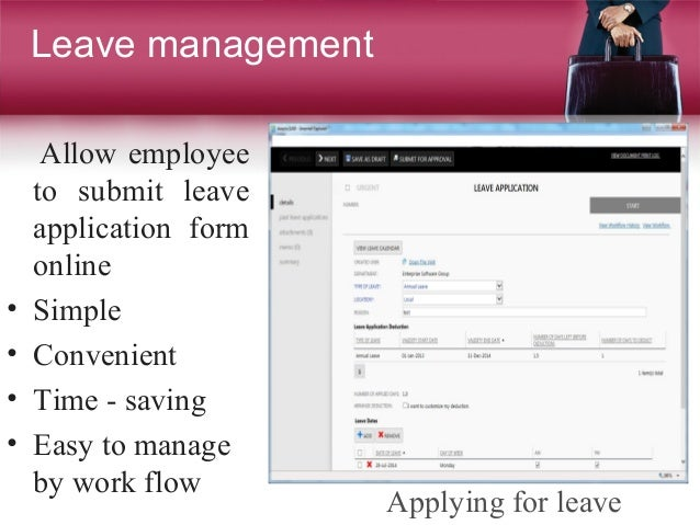Proposal hr system – Leave Application Form for Employee
