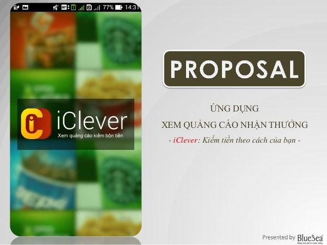 ỨNG DỤNG XEM QUẢNG CÁO NHẬN THƯỞNG - iClever: Kiếm tiền theo cách của bạn -