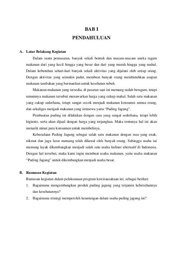 Contoh Proposal Pkm Kewirausahaan Makanan Ringan Pdf ...