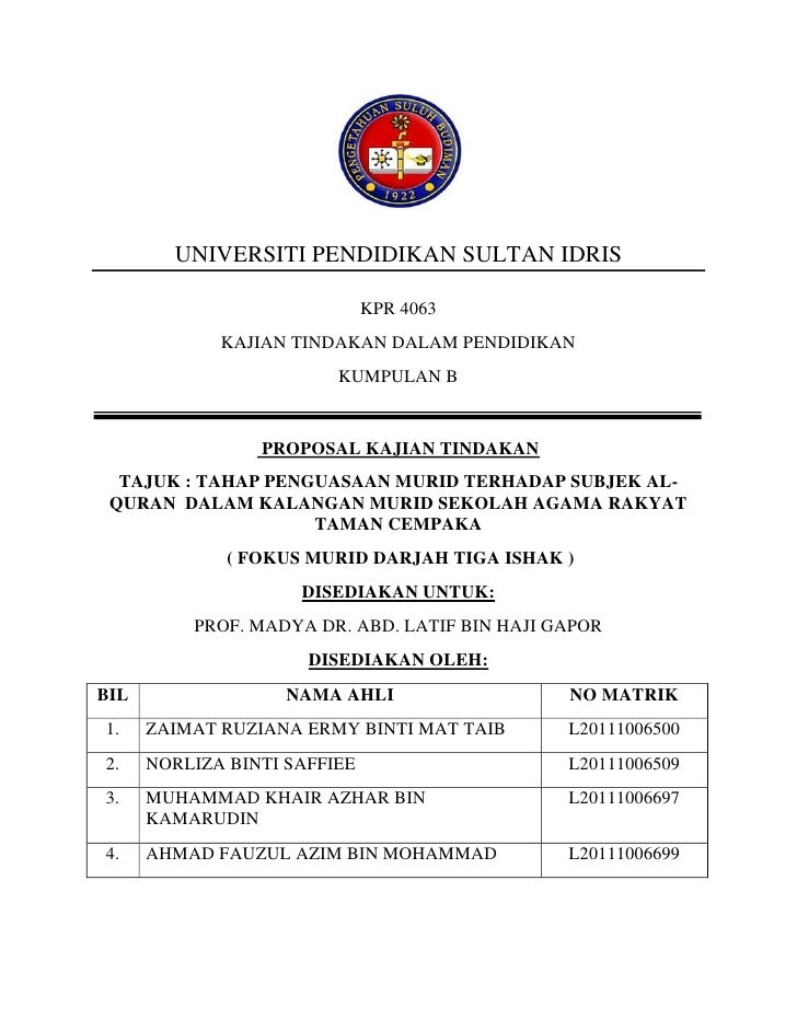 contoh research proposal upsi