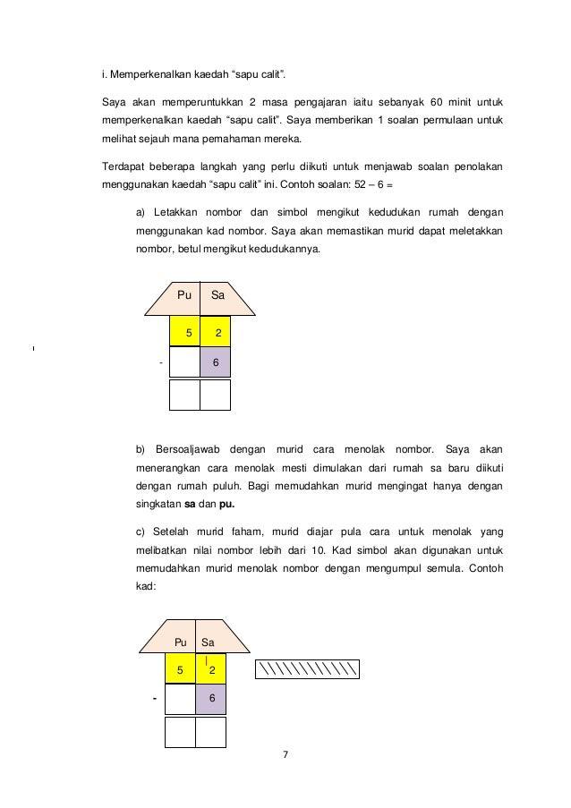 Proposal Kajian Tindakan Matematik Tahun 1