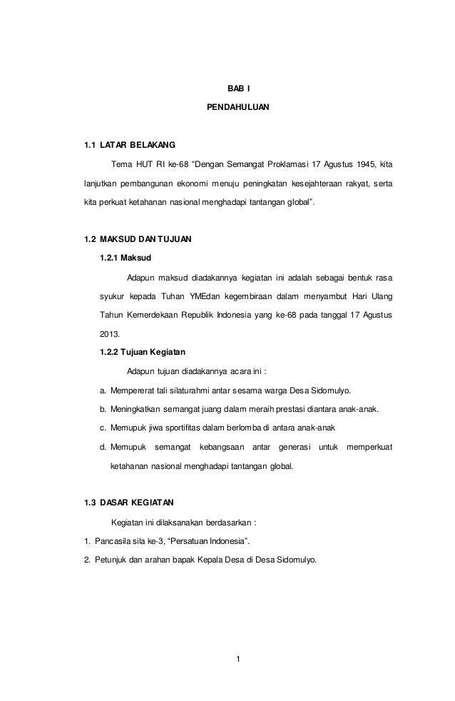 Proposal Kegiatan 17 Agustus