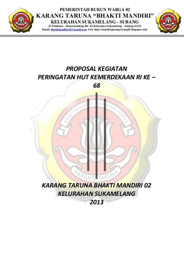 Proposal Kegiatan Agustusan 2013
