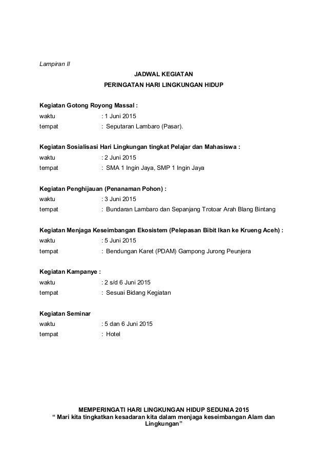 Proposal Kegiatan Hari Lingkungan Lplhi11