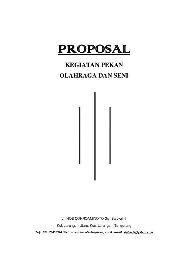 Proposal Kegiatan Olahraga Dan Seni