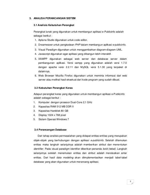 Contoh Proposal Portofolio Penawaran Aplikasi E Publicinfo By Edi Ism