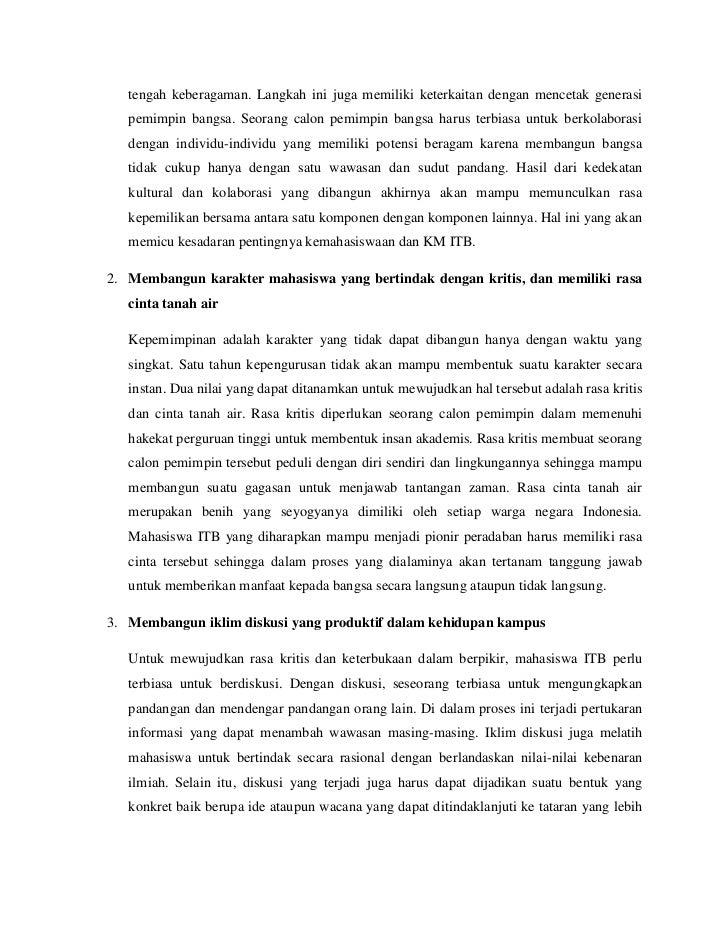 contoh essay calon mahasiswa itb
