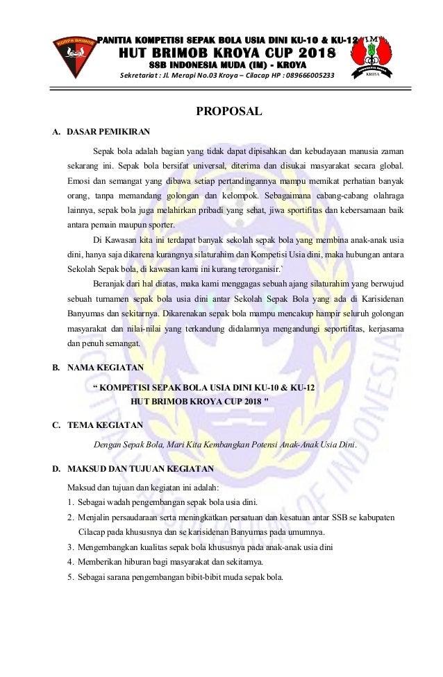 Proposal Sepak Bola Ku 10 Ku 12 2018