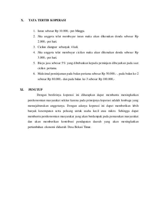 Contoh Proposal Koperasi