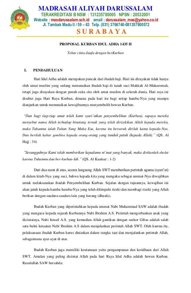 Proposal Kurban Idul Adha 1432 H P