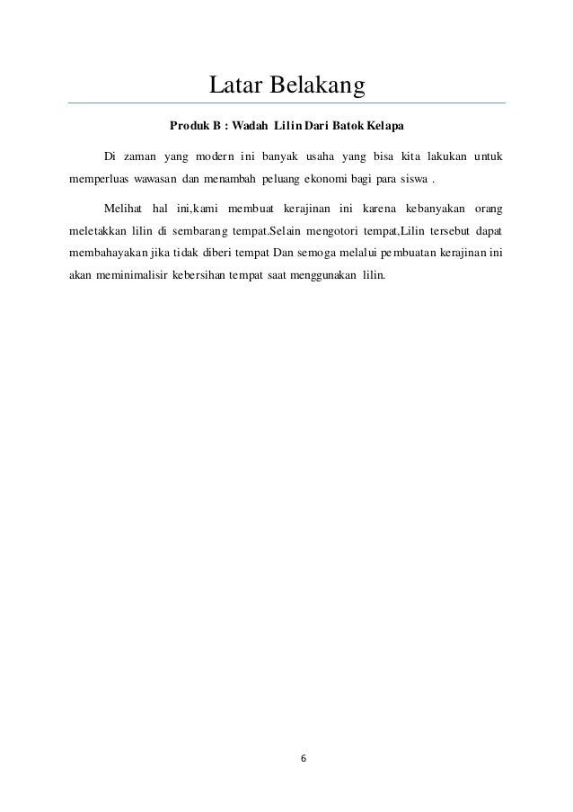 Proposal Pkwu Kerajinan Batok Kelapa