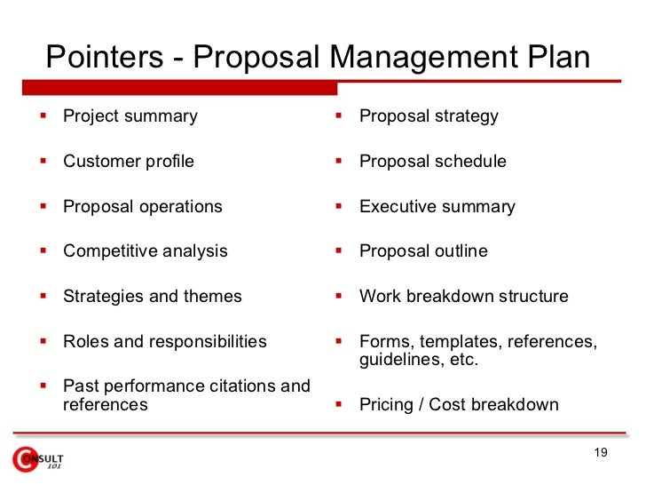 ... 19. Pointers   Proposal Management ...
