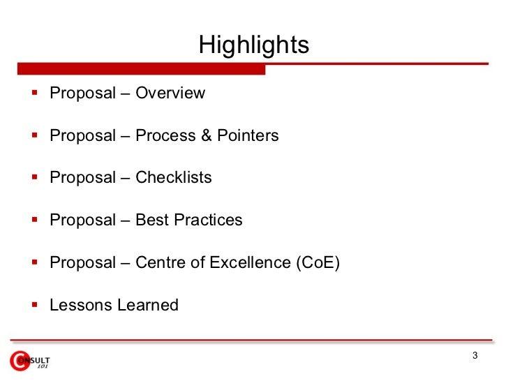 Proposal Management Process