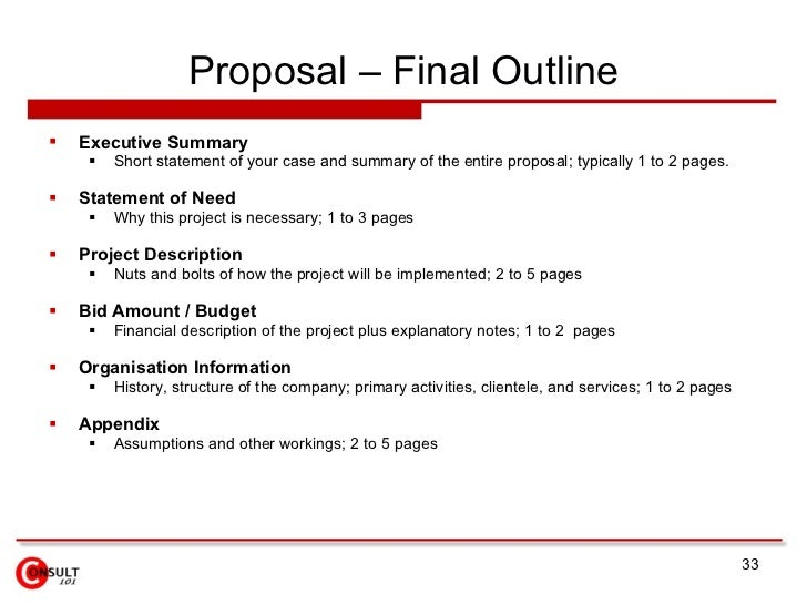 Proposal management process proposal final outline pronofoot35fo Images