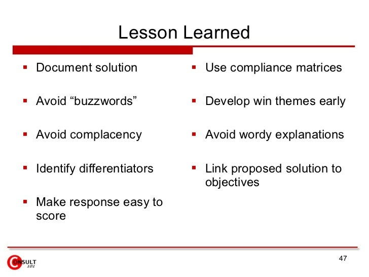 Lessons Learned Template - Design Templates