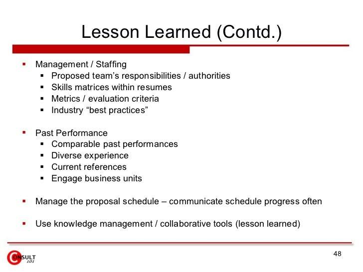 Management Proposal Resume Template Sample
