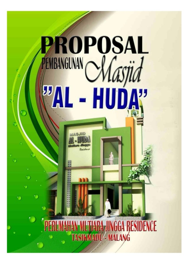 Proposal masjid al huda plus foto