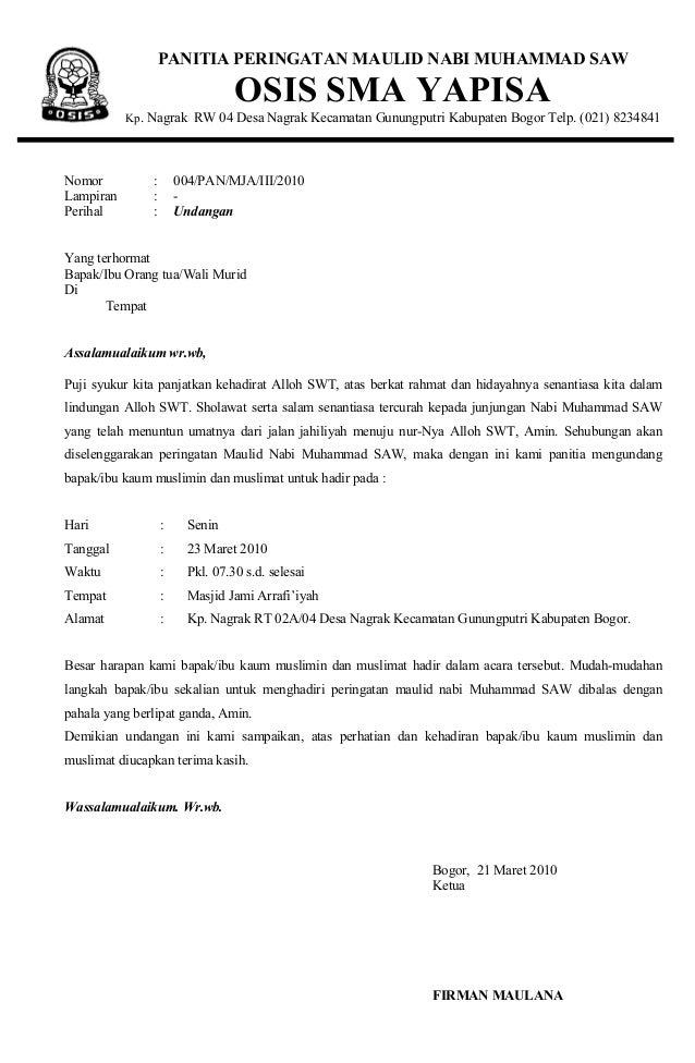 Contoh Cover Proposal Maulid Nabi Muhammad - Toast Nuances