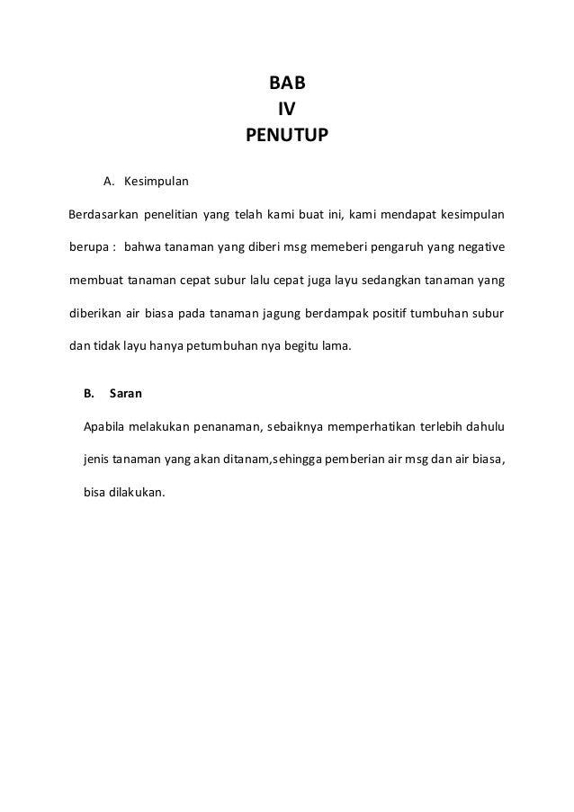 Contoh Proposal Penelitian Sederhana Bagi Kelas 3 Sma