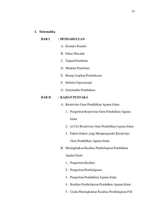 Proposal Skripsi Pai Pdf
