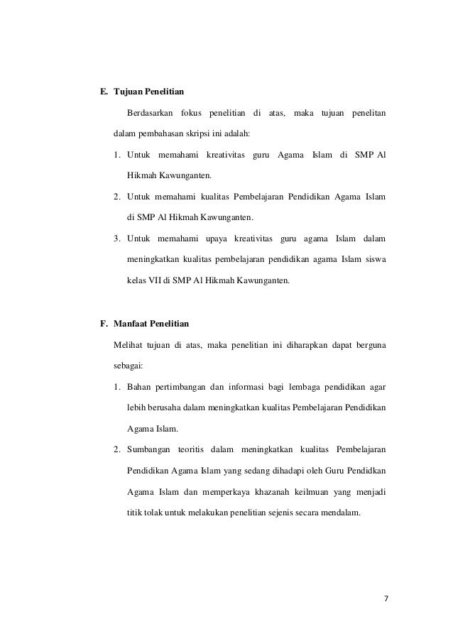 Contoh Proposal Skripsii