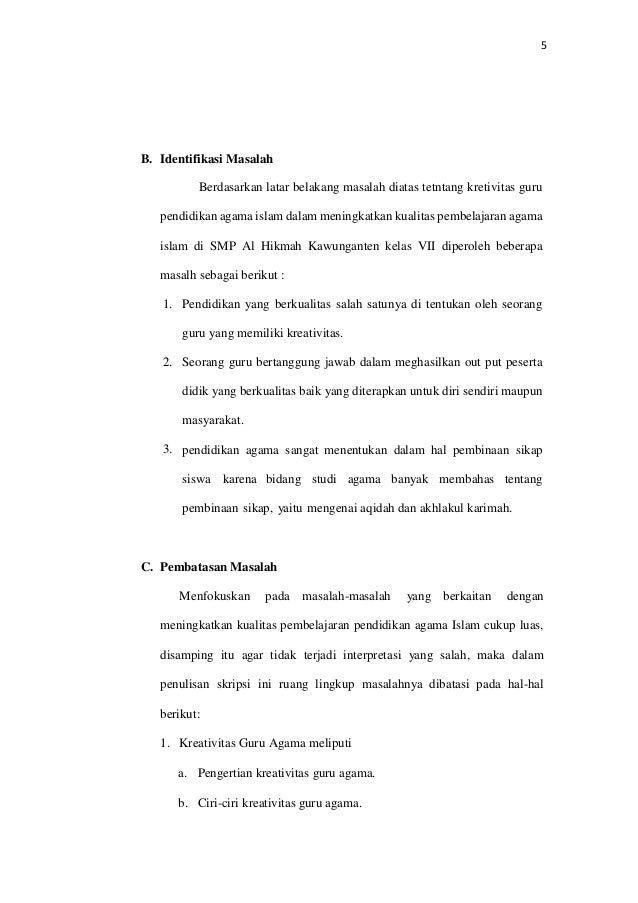 Contoh Identifikasi Masalah Dalam Proposal Usaha Rasmi Re