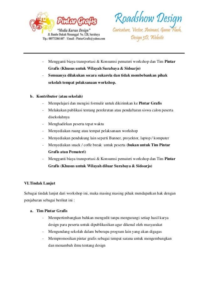 proposal penawaran 8 program workshop design free pintar grafis