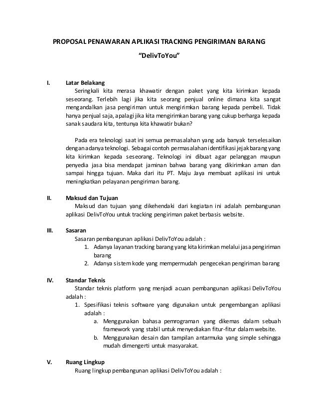 Contoh Rencana Bisnis Jasa Pengiriman Barang Jasa Ekspedisi By Nct
