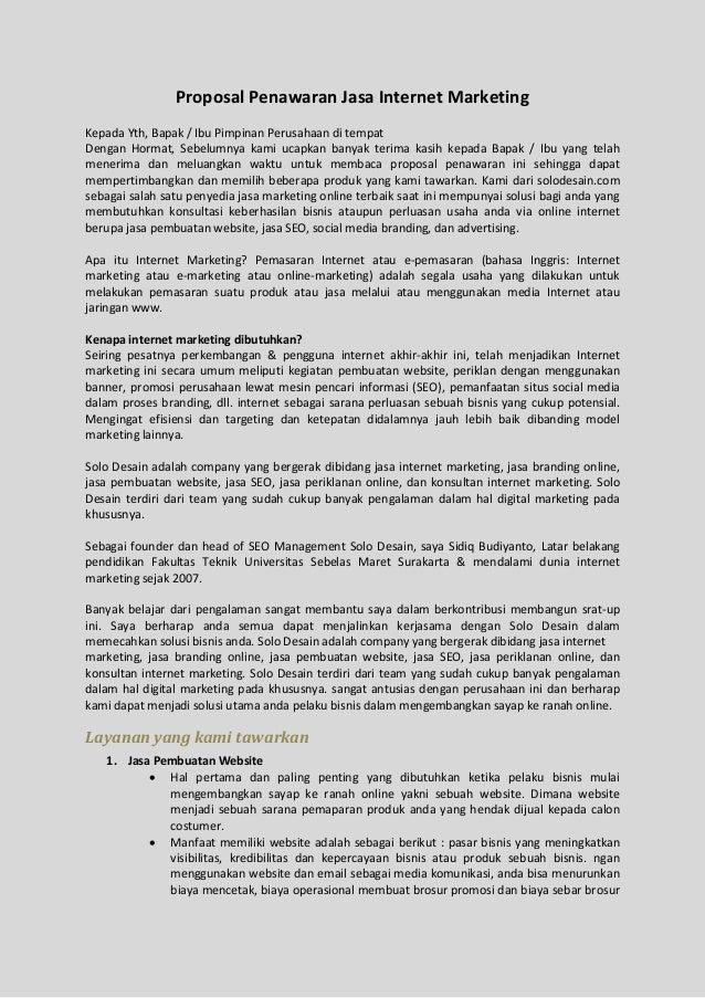 Bisnis Digital Indonesia Proposal Bisnis Digital Marketing