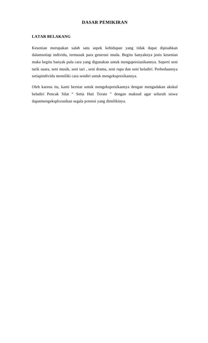 Contoh Proposal Pengajuan Dana Kegiatan Pencak Silat Berbagi Contoh Proposal