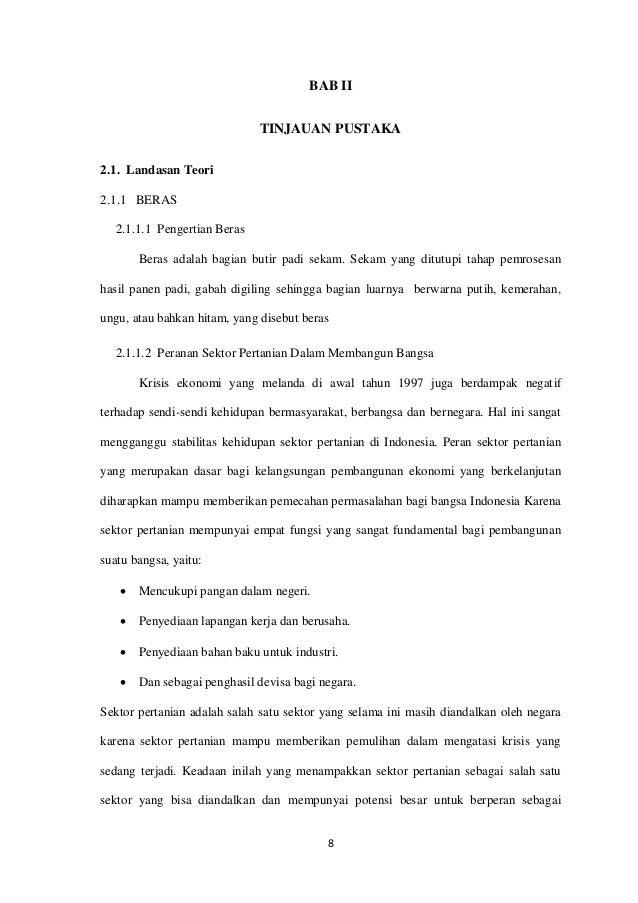 Proposal Penelitian Analisis Faktor Impor Beras Pekanbaru