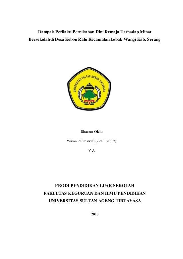 Contoh Proposal Tentang Pendidikan Ilmusosial Id