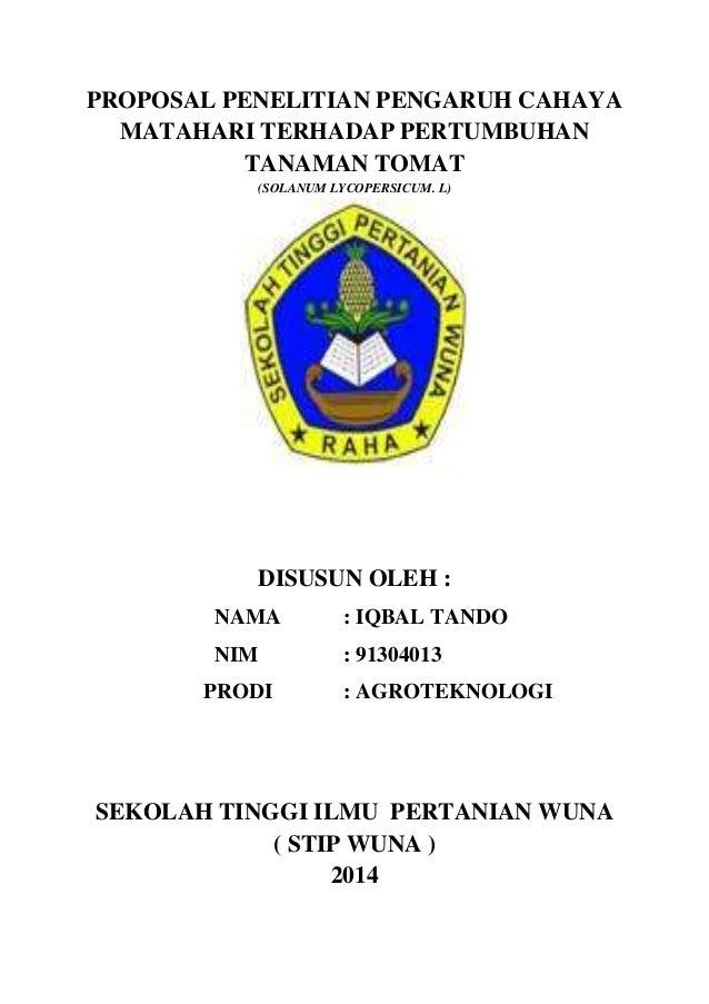 Contoh Proposal Skripsi Pertanian Agroteknologi Pdf Barisan Contoh