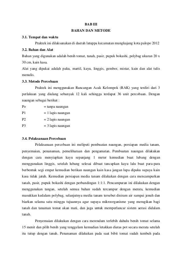Proposal Penelitian Tanaman Tomat