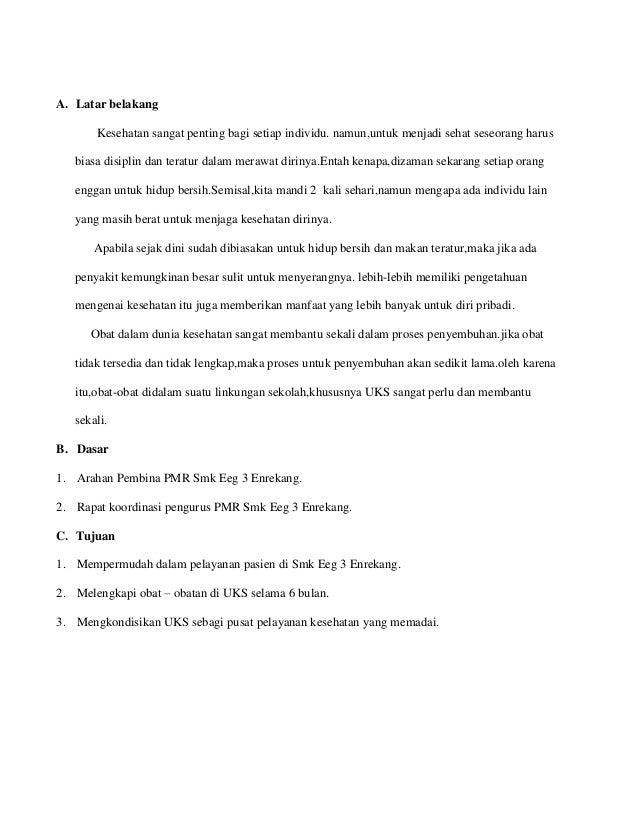 Proposal Pengadaan Obat Obatan Uks