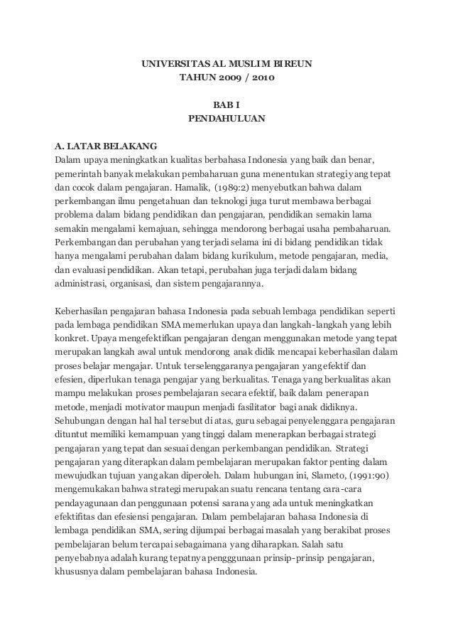 Proposal Skripsi Bahasa Indonesia Dan Sastra