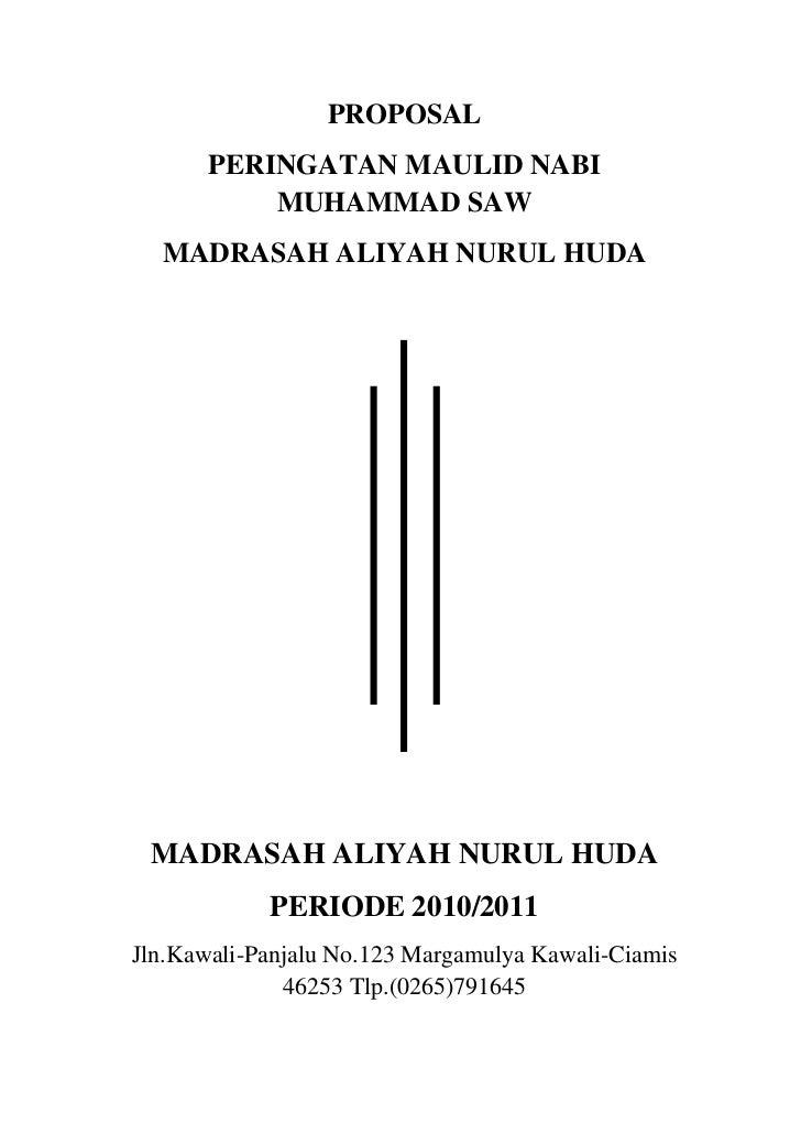 Proposal Peringatan Maulid Nabi