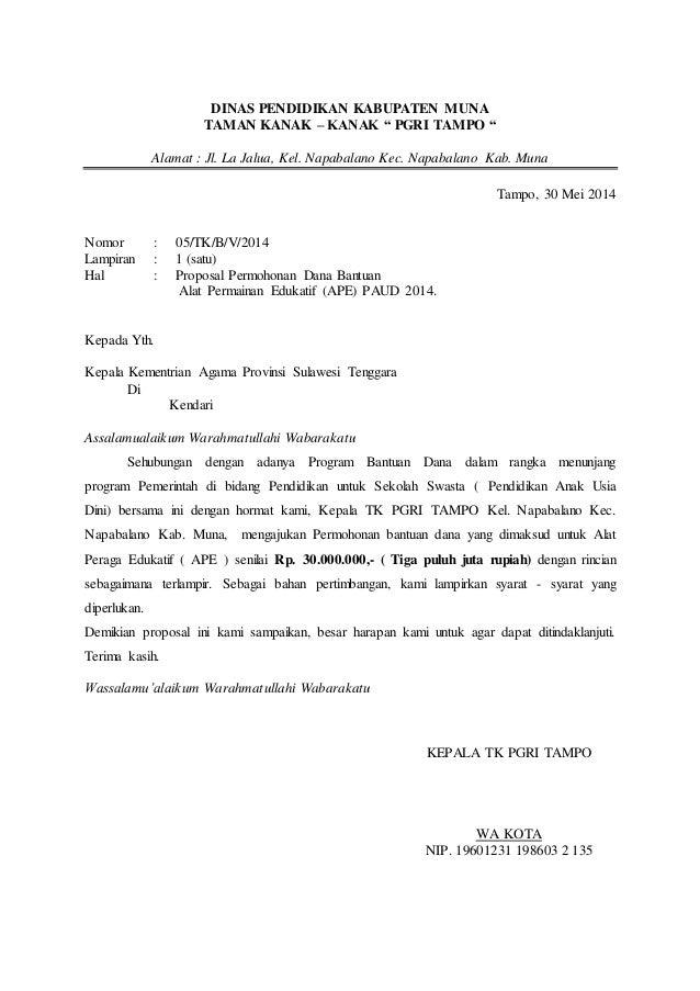 Contoh Surat Permohonan Bantuan Pembangunan Gedung