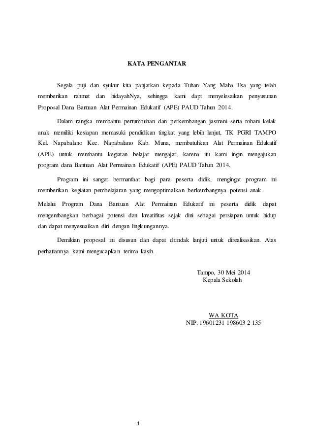 Proposal permohonan Slide 3