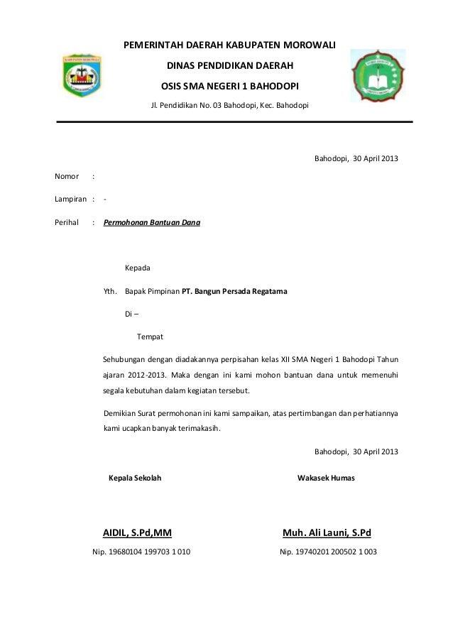 proposal perpisahan kelas 2013 sma negeri 1 bahodop