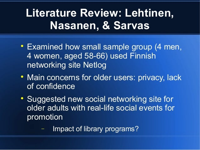 Literature review on impact of social networking sites