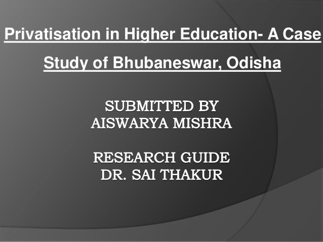 privatisation of higher education essay