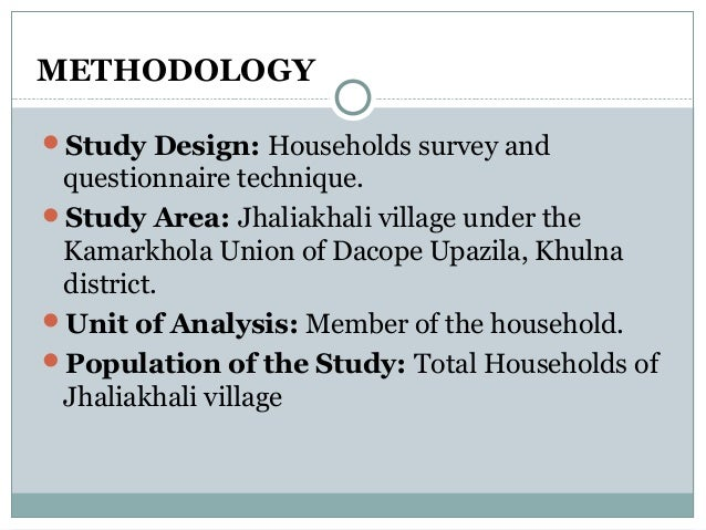 Proposal on cyclone and family structure for Household survey questionnaire design