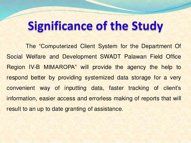 significance of the study in payroll system thesis