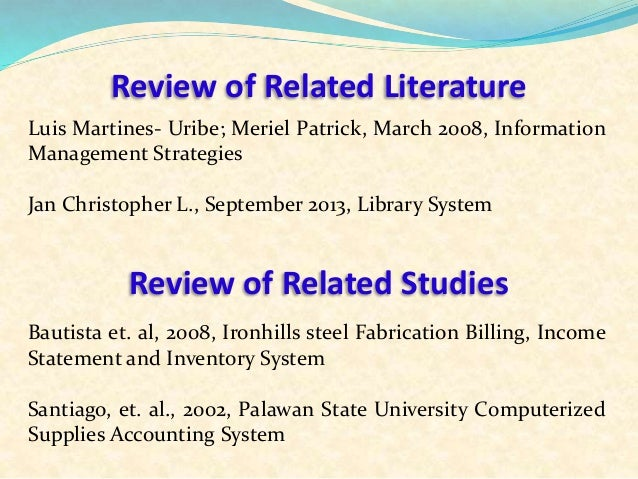 literature review on system analysis and design