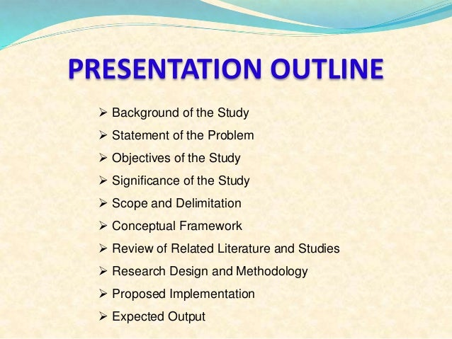scope and delimitation sample for research paper