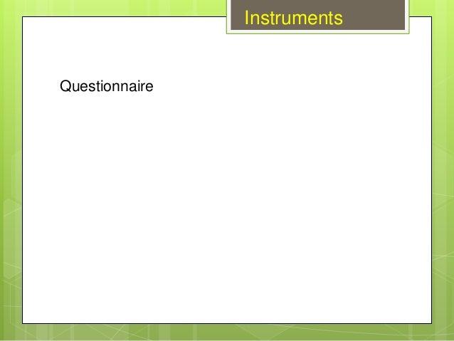 Questionnaire Instruments