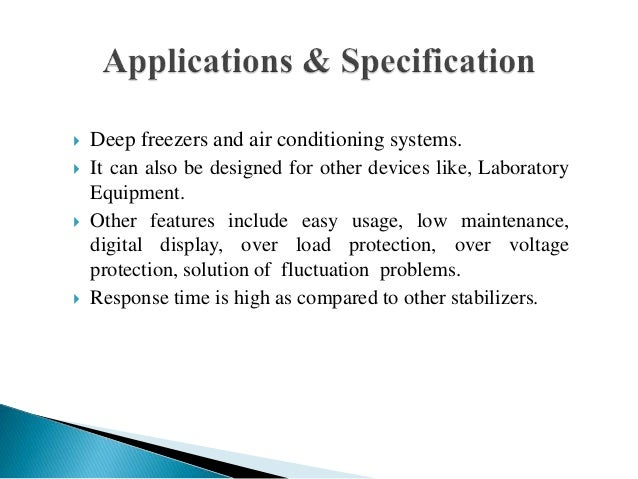 Triac Based Automatic Voltage Stabilizer
