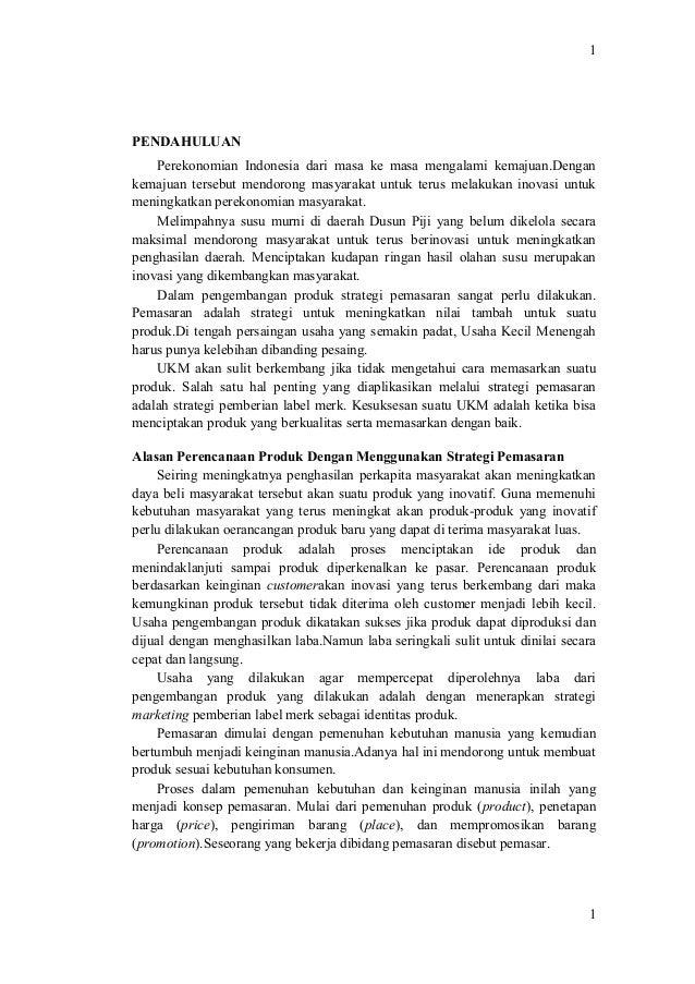 Pkm Artikel Ilmiah Inovasi Pengolahan Susu Murni Di Desa Sumogawe D
